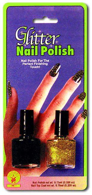 Black Gold Glitter Nail Polish
