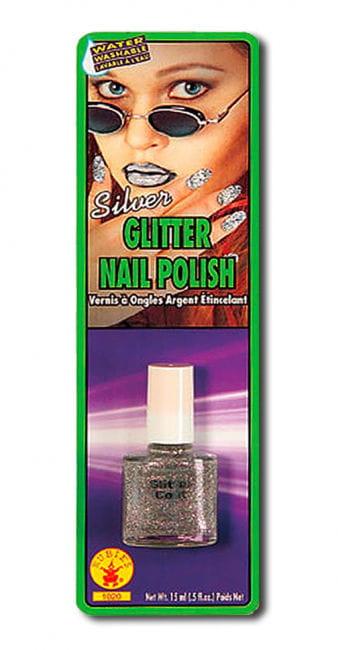 Glitter Nagellack silber