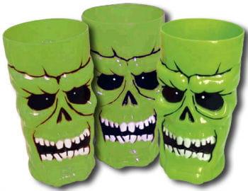 Trinkbecher Skull Neongrün