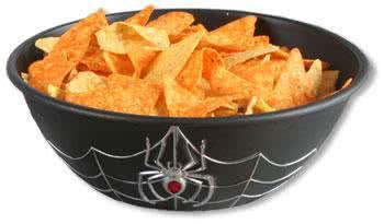 Spinnweben Snackschüssel schwarz