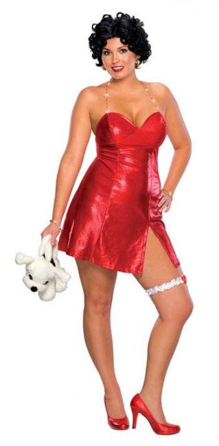 Betty Boop Minikleid mit Perücke 46-48