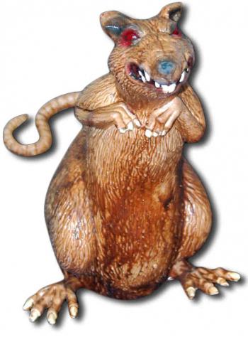 Brown sewer rat Latex 18 cm
