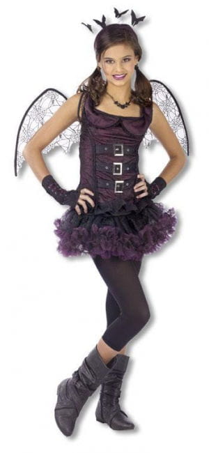 Spider Bat Child Costume Purple L