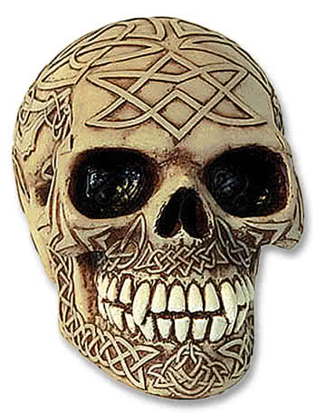 Skull Bone Coloured Celtic Design
