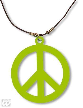 Kunststoff Hippie Kette grün