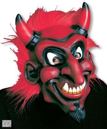 Belzebub Maske mit rotem Haar