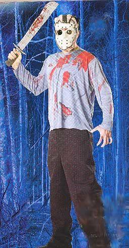 Jason Shirt, Maske und Machete Adult