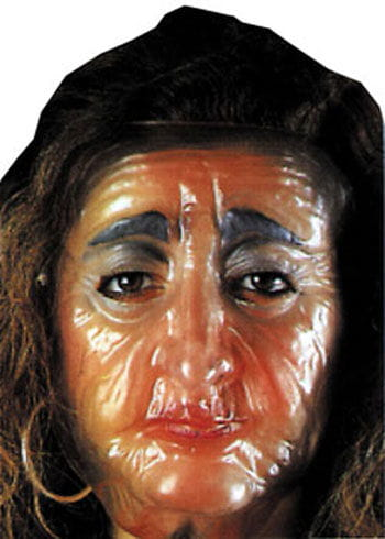 Transparent Mask Old woman