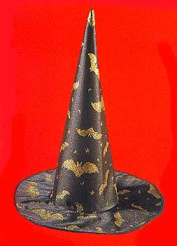 Witch Hat with Golden Bats