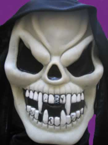Glow in the Dark Mask B Vampire Teeth
