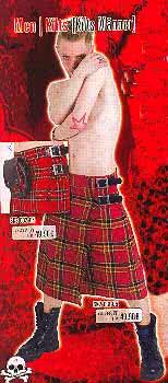 Schotten-Kilt rot kariert Gr. 34