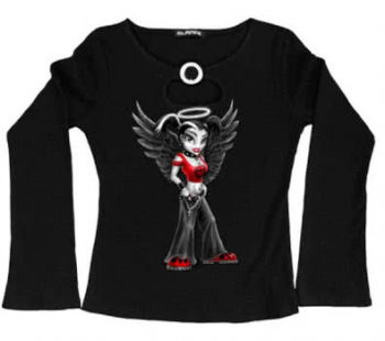 Girly Long Sleeve Goth Angel Size S
