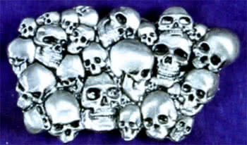 Belt Buckle Pile of Skulls
