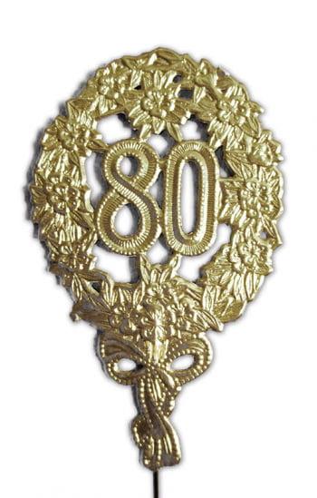 Jubiläums Zahl 80 gold