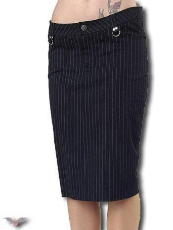 Pinstripe Skirt Knee Length Size 28