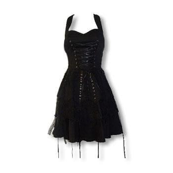 Black Gothic Lace Dress XS