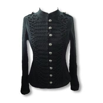 schwarze Gothic Jacke im Uniform Style M