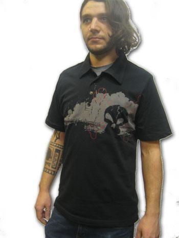 Dark Skull Polo Shirt Size L