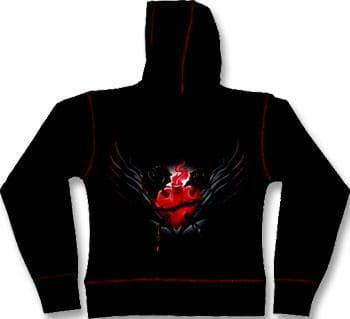 Sacred Heart Girlie Kapuzen Jacke L