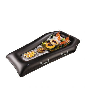 Inflatable buffet in coffin shape