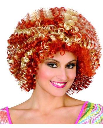 Disco Afro Perücke blond/rot