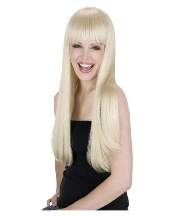 Long Hair Wig Blond with Fringe