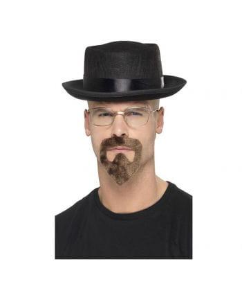 3-tlg. Breaking Bad Heisenberg Kostüm-Zubehör