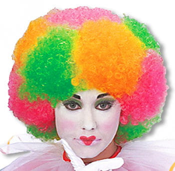 Colorful Neon Afro Wig