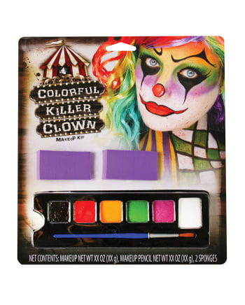 Colorful Killer Clown Make-Up Set