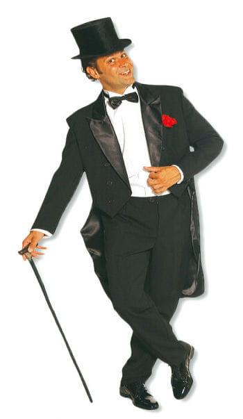 Cabaret Herren-Kostüm schwarz XL