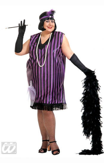 Charleston dress black violet XL