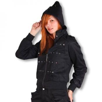 Ladies biker jacket with studs