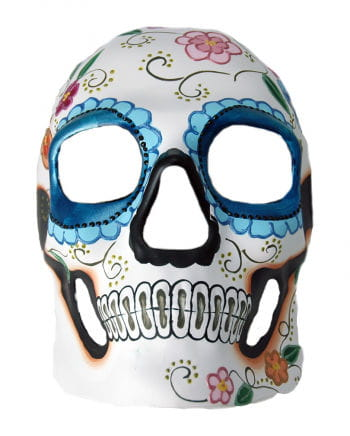 Day of the Dead Skull Mask Flower Relief