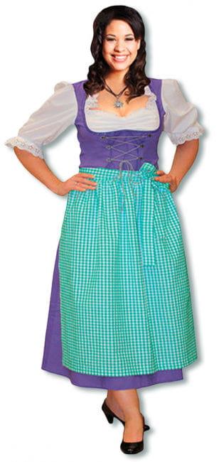 Dirndl Kostüm lila Plus Size 46 L/XL 40-42