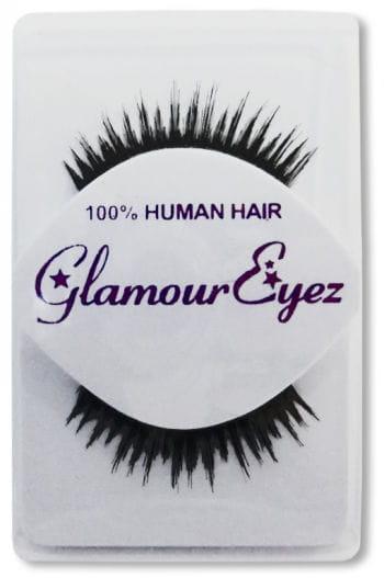 Human Hair Eyelashes Black Jagged