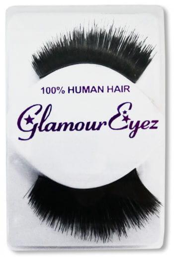 Human Hair Eyelashes Black Extra Dense