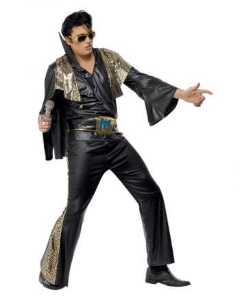 Elvis costume Deluxe Black / Gold