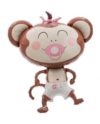 Folienballon Baby Girl Äffchen