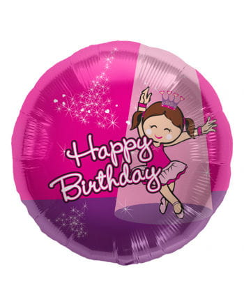 Foil balloon Happy Birthday Ballerina