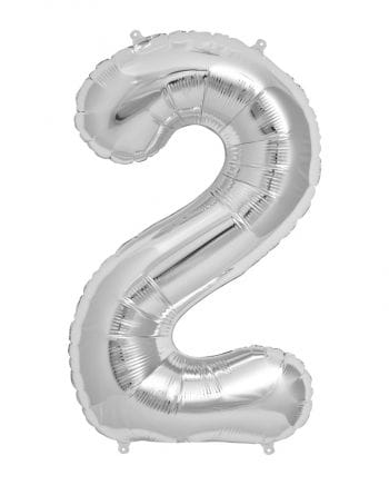 Silver Foil Balloon Number 2