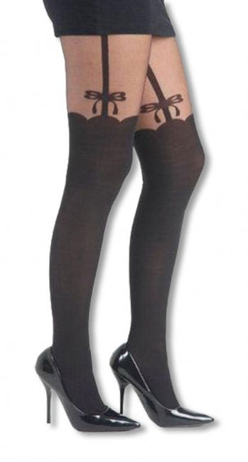 Patterned tights suspenders