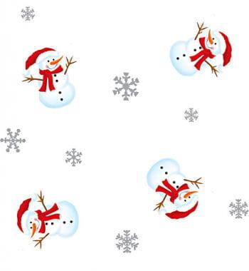 Gift Wrap Cellophane Snowman