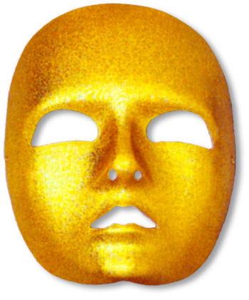 Gesichtsmaske gold