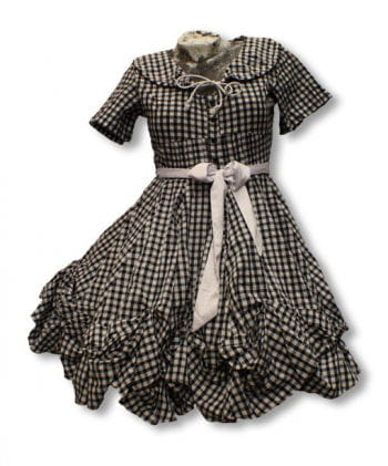 Checked dress in black and white
