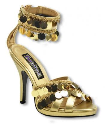 Goldene Sandaletten mit Fesselriemchen 38 UK 7 US 9