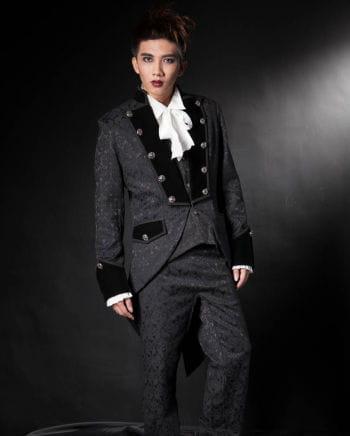 Gothic Men brocade frock coat black
