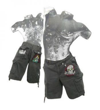 Grinsender Totenkopf Shorts