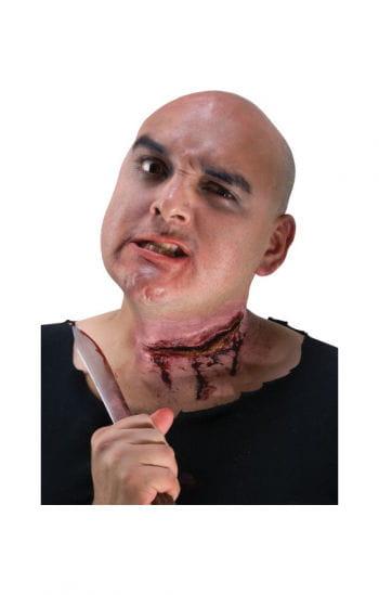 Große Halsschnitt Wunde