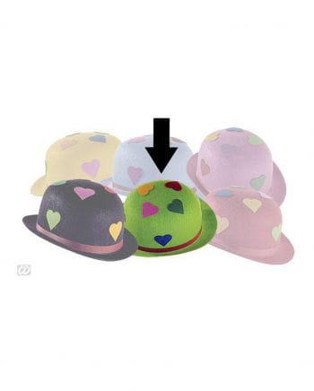 Grüner Partyhut mit Herzen