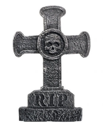 Grave stone cross with skull